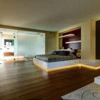 Светодиодная подсветка пола в спальне