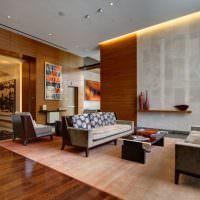 Диванная группа на светлом ковре в гостиной