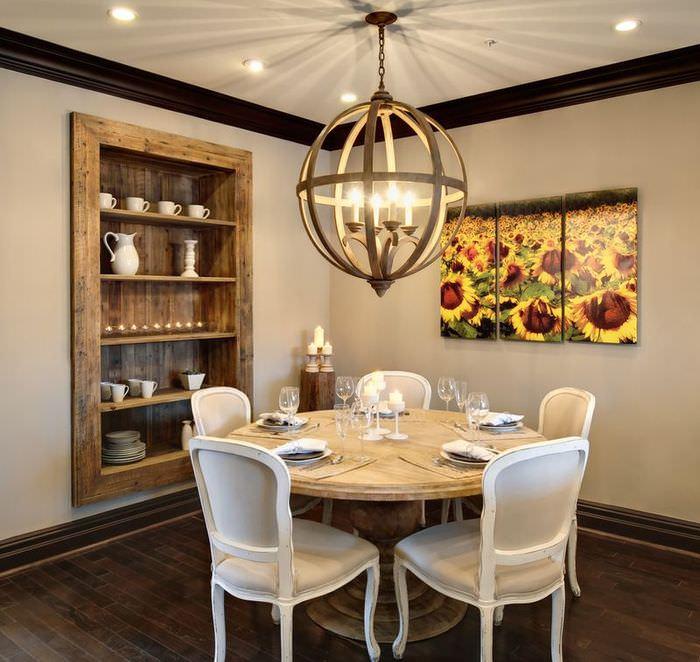 Использование модульных картин для декорирования кухни