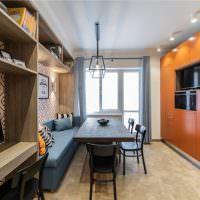 Кухня-гостиная с одним окном