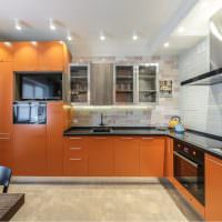 Кухонный гарнитур Г-образной планировки