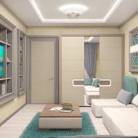 светодиодная подсветка на потолке гостиной