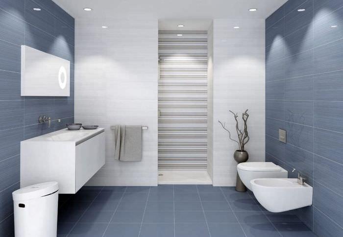Дизайн ванной комнаты в духе хай-тека