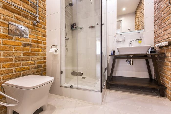 Оформление ванной комнаты в индустриальном стиле