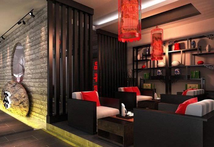 Оформление зоны отдыха в китайском стиле