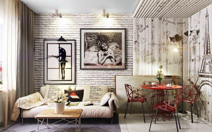 Декорирование интерьера гостиной в едином стиле