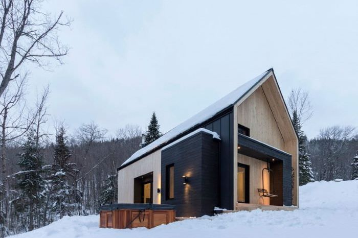 Небольшой загородный дом в скандинавском стиле