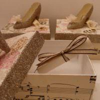Красивые коробки для хранения женских туфлей