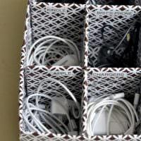 Место для удобного хранения зарядных устройств