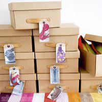Картонные коробки из-под обуви для декорирования своими руками
