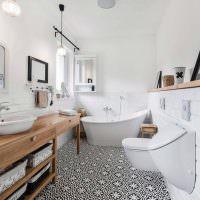 Интерьер ванной в скандинавском доме