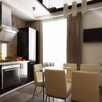 Дизайн современной кухни с обеденной зоной