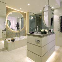 Круглые зеркала в дизайне ванной
