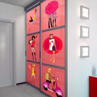 Декор шкафа в детской комнате