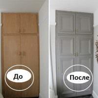 Фото советского шкафа до и после покраски