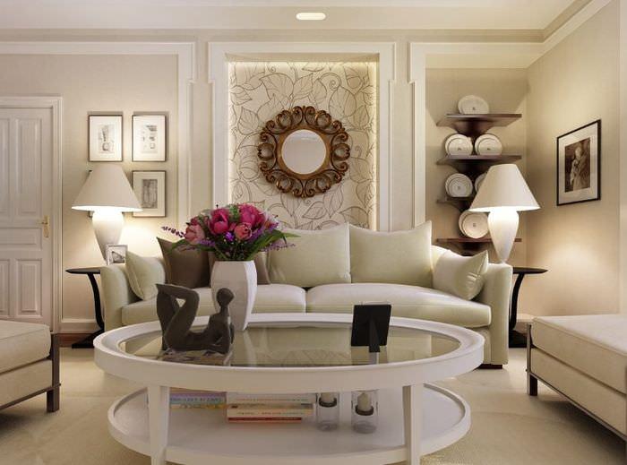 Правильное освещение в гостиной комнате