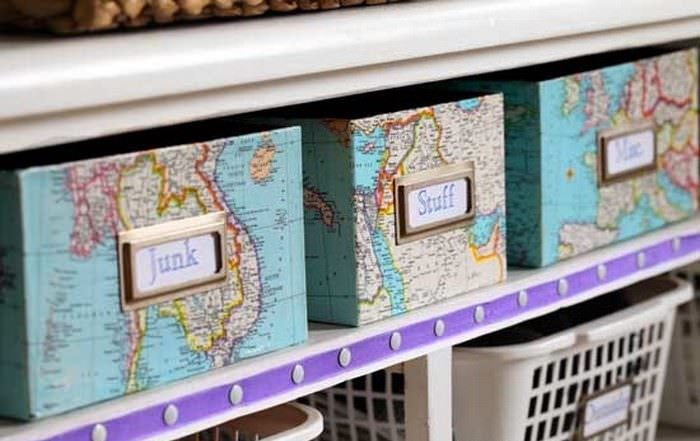 Бирки на коробках для хранения мелочевки