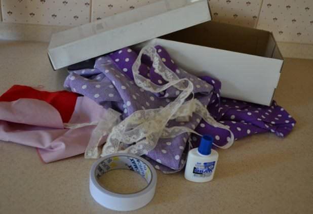 Материалы для декорирования коробки из-под обуви