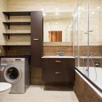 Ванная комната в коричневом цвете