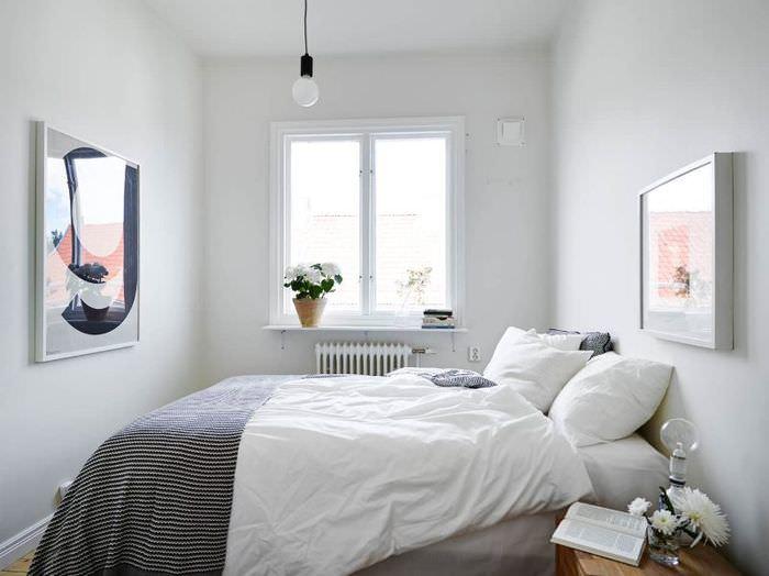 Небольшая спальня в скандинавском стиле