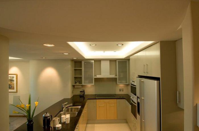 Организация освещения в маленькой кухне
