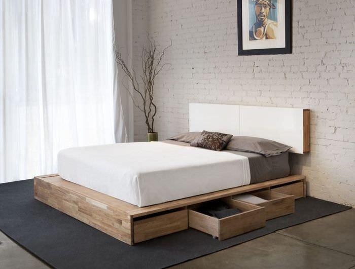 Интерьер спальни в стиле минимализма
