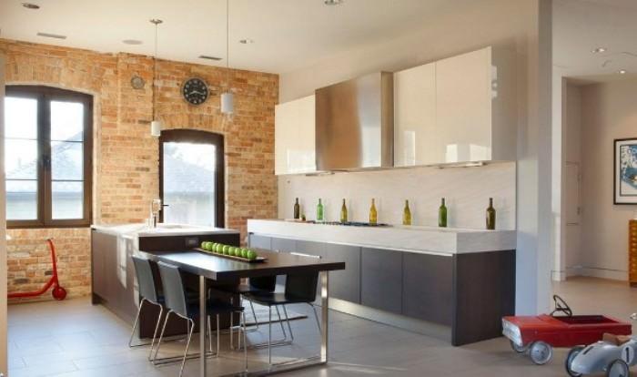Кухня в стиле лофт.