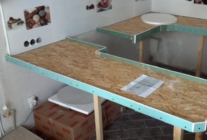 Подготовка основания для укладки плитки.