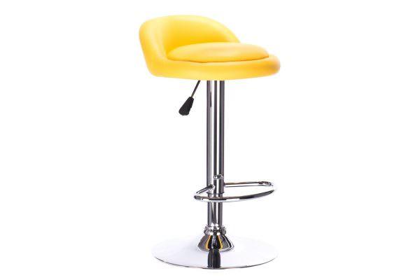 Барный стул с вращающимся сидением и дополнительным кольцом
