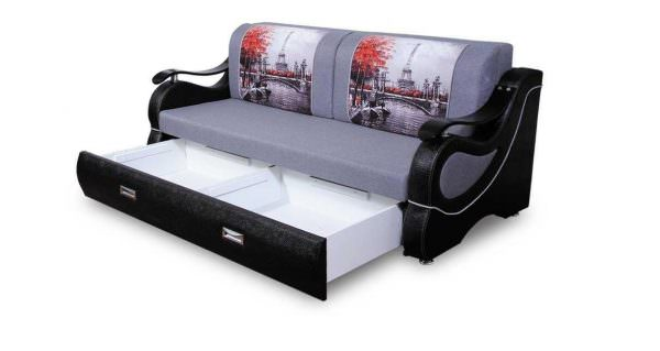 Стильный и удобный диван с ящиками