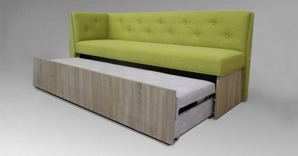 Кухонный диван, выполненный из дуба сонома