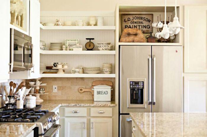 Виды кухонных полок.
