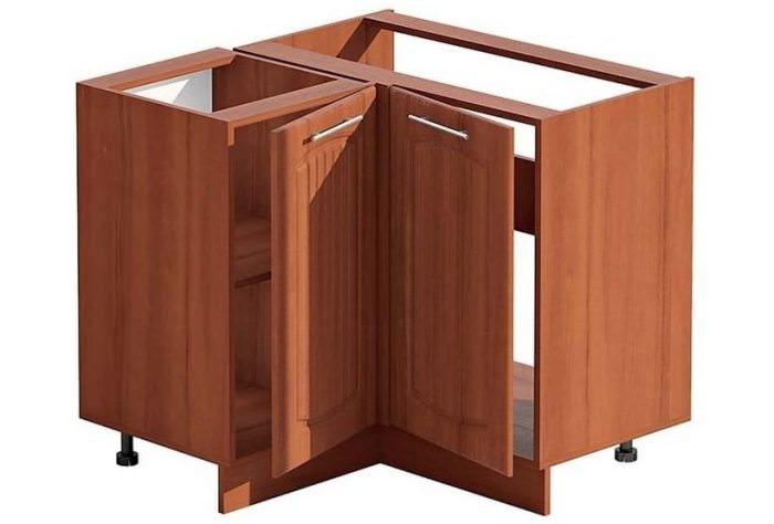 шкаф под мойку прямоугольной формы.