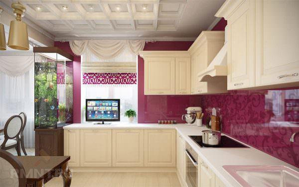 Телевизор на кухне не должен отвлекать от приема пищи