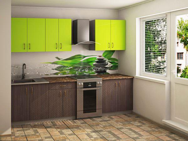 Столешница из акрила в кухоннном интерьере