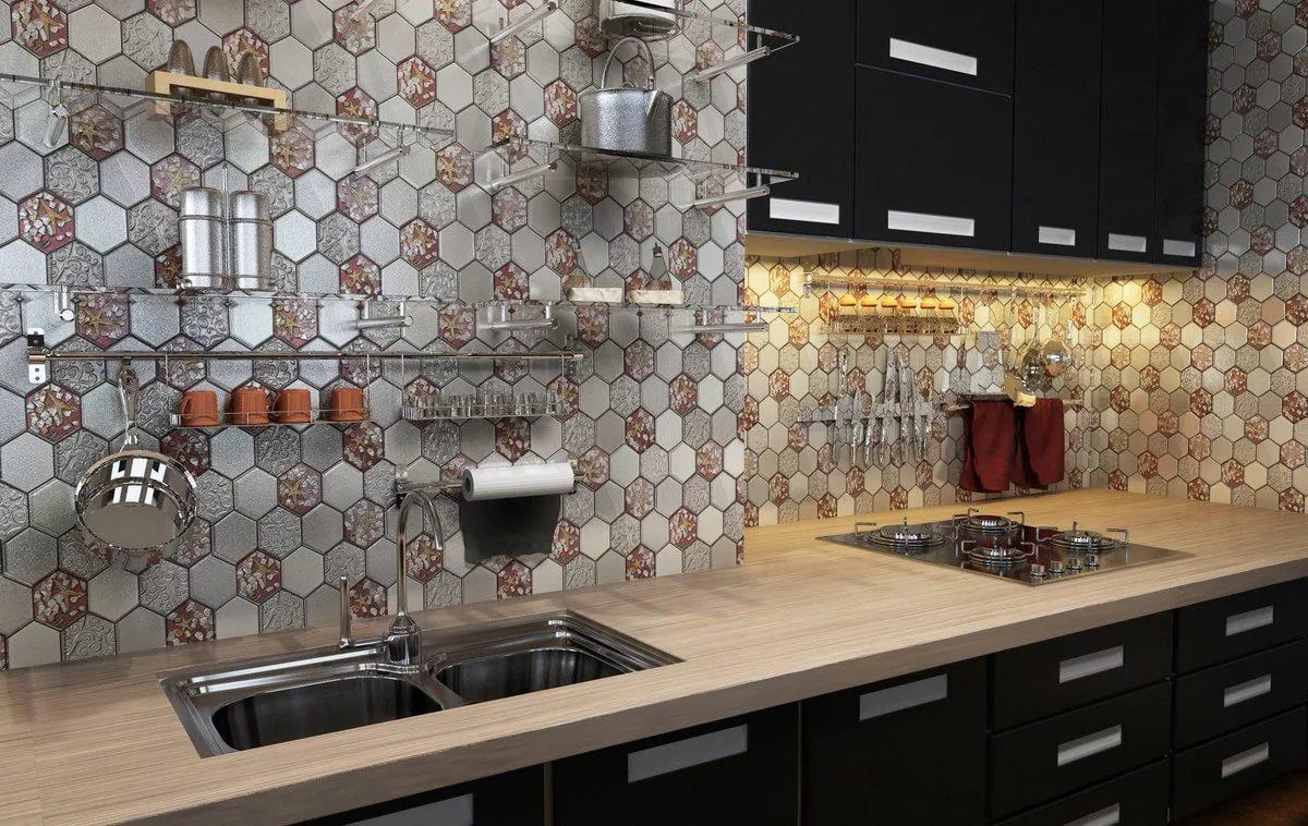 купить мозаику для кухни на фартук