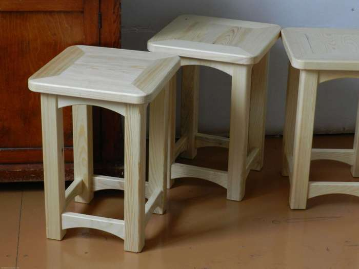 Дизайн деревянной табуретки.