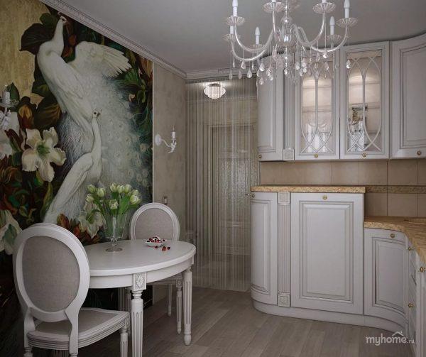 Стильная и элегантная белая кухня