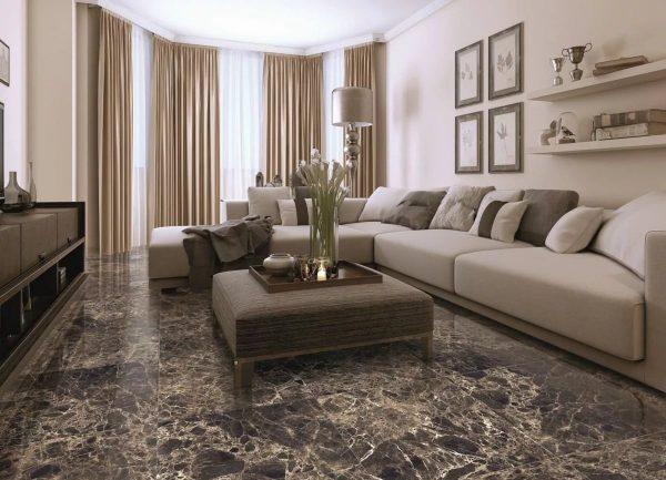 Светло-коричневый оттенок позволяет визуально увеличить площадь помещения, а также производит успокаивающий эффект.