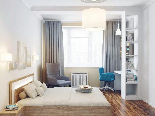 Уютная светлая спальня всегда будет радовать и успокаивать