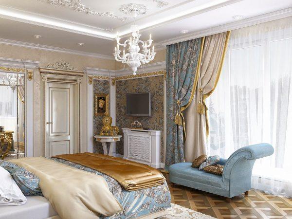 Классические шторы один из простых и понятных вариантов. Часто их делают собственноручно, покупая два отреза ткани. Шторы могут быть богато декорированы, создавая тем самым уникальный дизайн спального места.