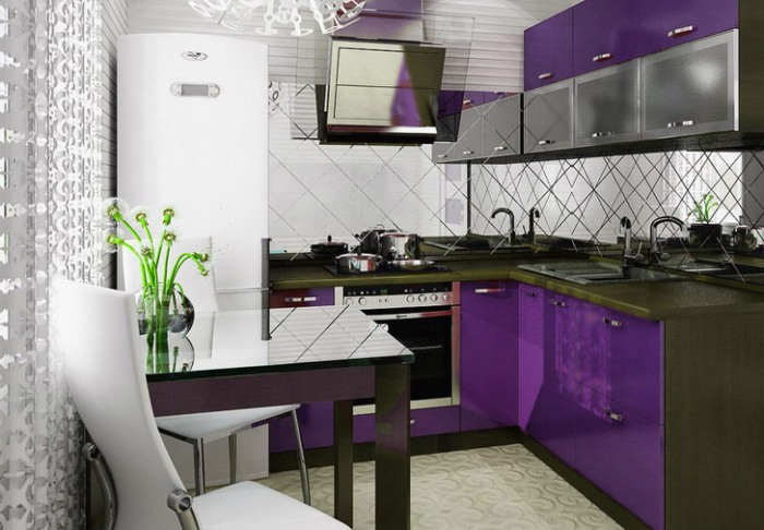 Маленькая кухня модерн.