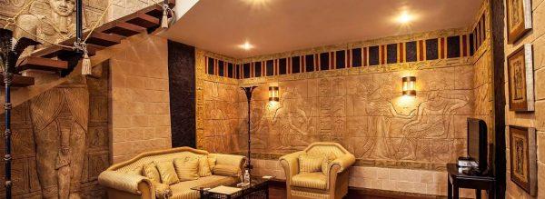 Позволяет придать гостиной ощущение роскоши и богатства, в которой жили древние фараоны