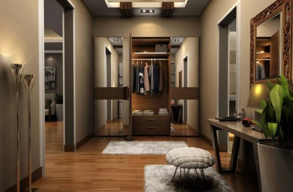 Каждый предмет должен находиться на своем месте. Популярные модели шкафов для хранения верхней одежды: встроенные или напольные, аккуратные комоды и тумбы под обувь.