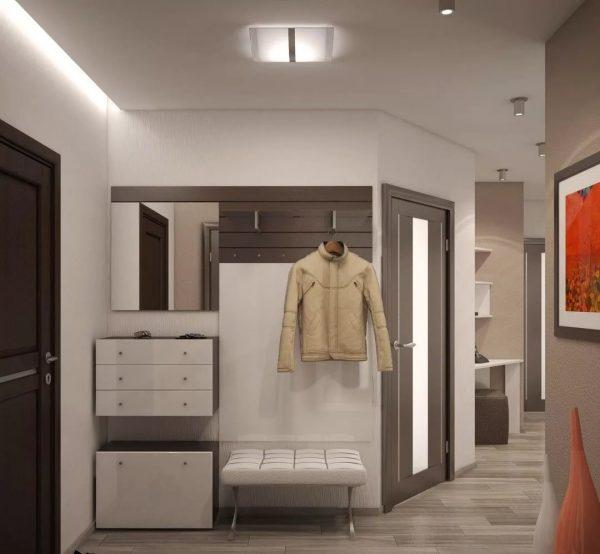 Стильное решение новых технологий, с холодным рассеянным освещением, встроенной подсветкой в мебели, хромированные детали и много металлических элементов.