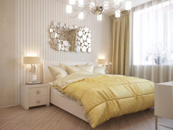 Большое количество небольших светильников позволит визуально увеличить размер помещения, а также позволит пространству дышать.