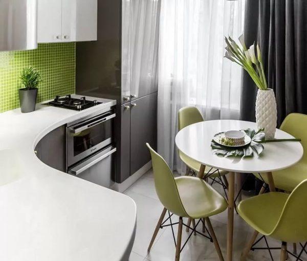 Основные цвета для оформления кухни в современном стиле: белый и черный