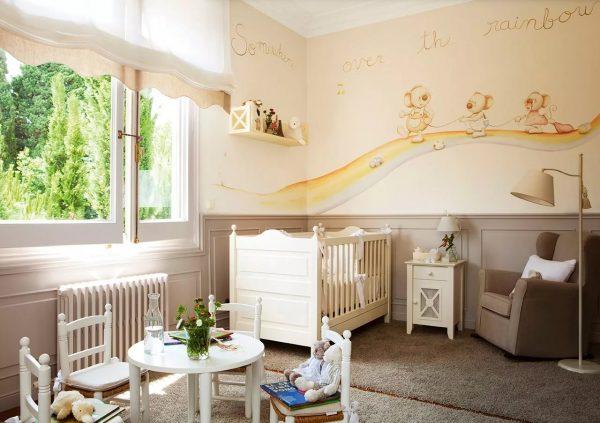 Для оформления спальной или детской комнат рекомендуется использовать светлые пастельные оттенки