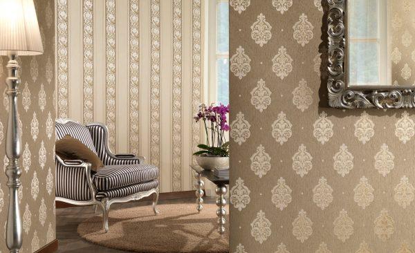 Текстильные обои ценятся за хорошие звукоизоляционные показатели и способность пропускать воздух.