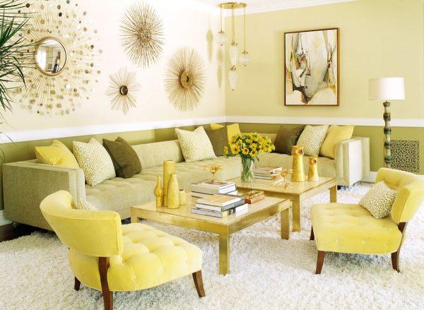 Приятный солнечный желтоватый оттенок добавит немного цвета и ярких красок в любое помещение.
